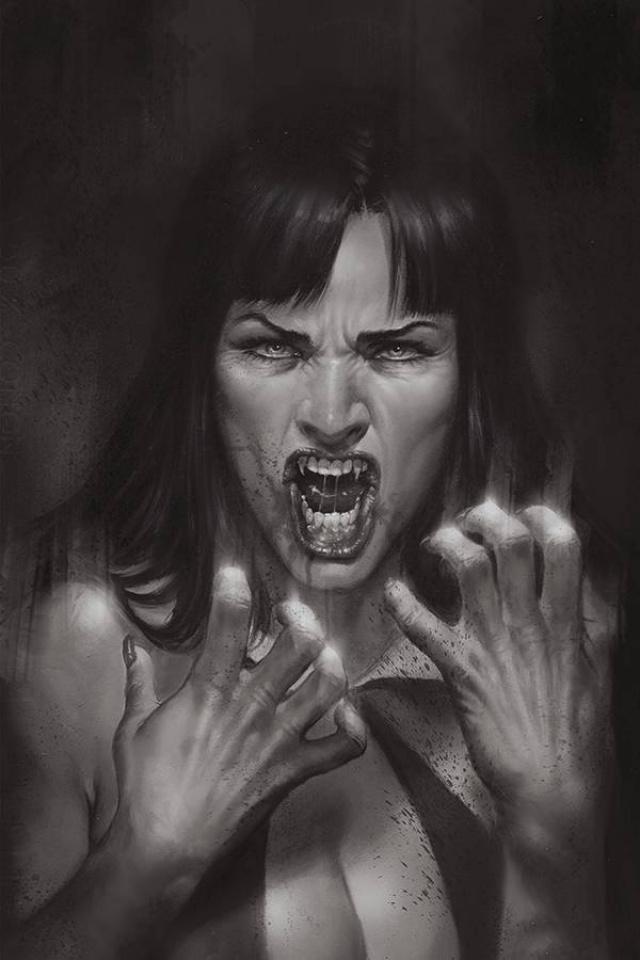 Vengeance of Vampirella #10 (25 Copy Parrillo B&W Virgin Cover)