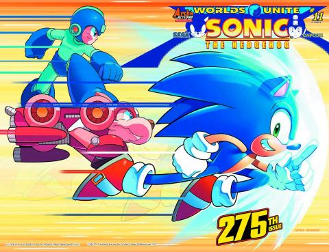 Sonic the Hedgehog #275 (Spaz Wraparound Cover)