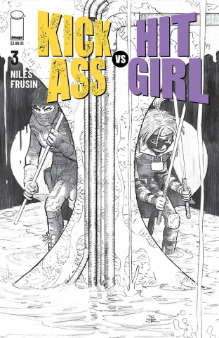 Kick-Ass vs. Hit-Girl #3 (B&W Romita Jr Cover)