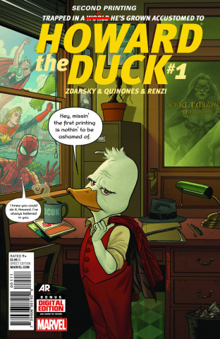 Howard the Duck #1 (Quinones 2nd Printing)