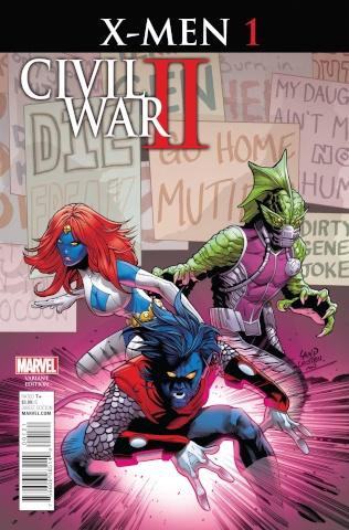 Civil War II: X-Men #1 (Land Cover)