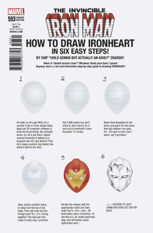 Invincible Iron Man #593 (Zdarsky How To Draw Cover)