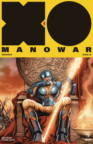 X-O Manowar #9 (20 Copy Interlock Ryp Cover)