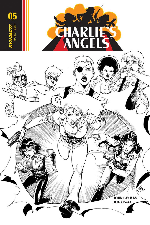 Charlie's Angels #5 (20 Copy Cifuentes B&W Cover)