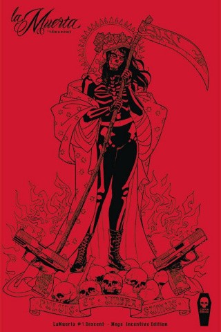 La Muerta: Descent #1 (Ortiz 10 Copy Cover)