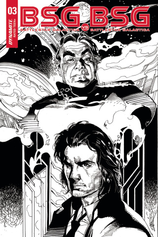 BSG vs. BSG #3 (10 Copy Castro B&W Cover)