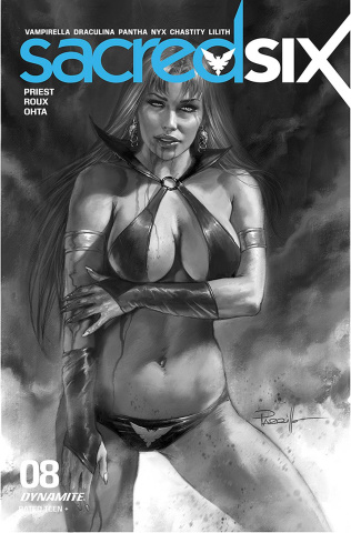 Sacred Six #8 (30 Copy Parrillo B&W Cover)