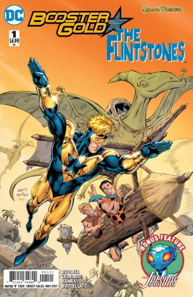 Booster Gold / The Flintstones Special #1 (Variant Cover)