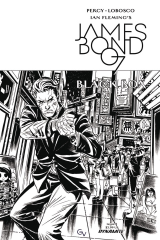 James Bond: Black Box #2 (10 Copy Valletta B&W Cover)