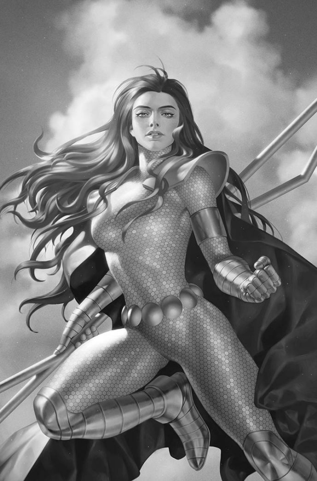 Red Sonja: The Superpowers #5 (7 Copy Yoon B&W Virgin Cover)