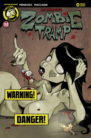Zombie Tramp #35 (Mendoza Risque Cover)