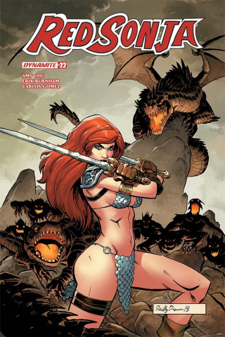 Red Sonja #22 (Brown Cover)
