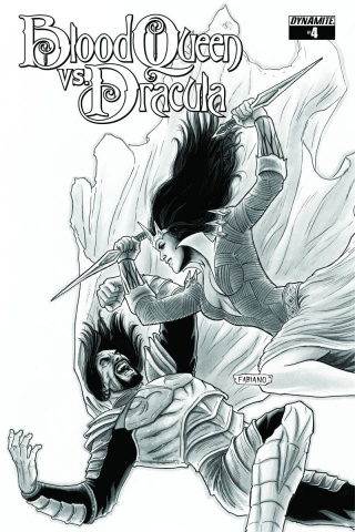 Blood Queen vs. Dracula #4 (15 Copy Neves B&W Cover)