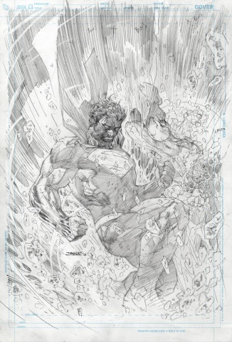 Superman Unchained #8 (Black & White Cover)