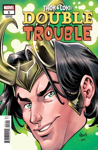 Thor & Loki: Double Trouble #1 (Nauck Headshot Cover)