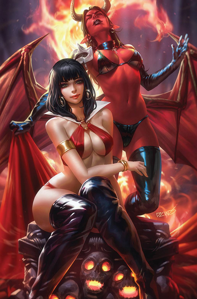 Vampirella vs. Purgatori #1 (Chew Virgin Cover)