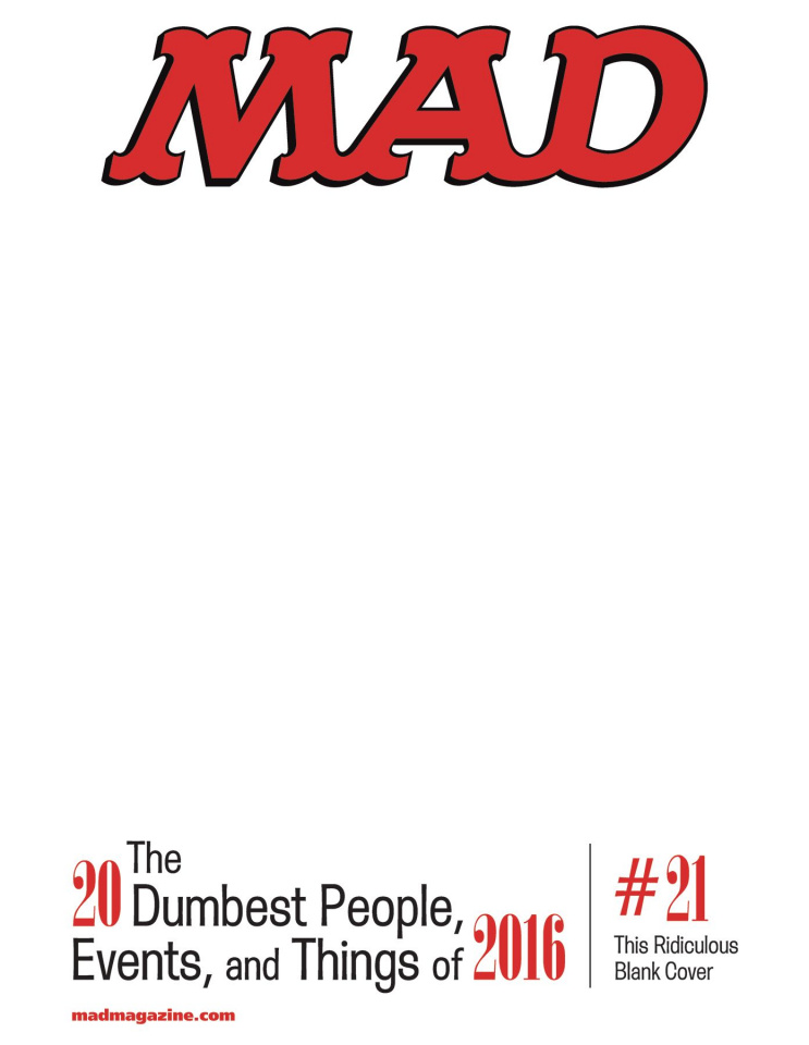 MAD Magazine #543 (Blank Cover)