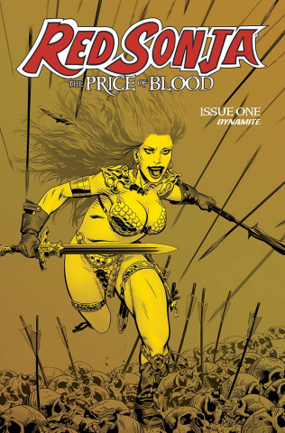 Red Sonja: The Price of Blood #1 (21 Copy Golden Gold Tint Cover)