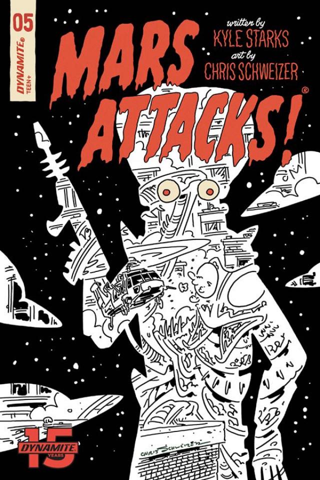 Mars Attacks #5 (30 Copy Schweizer B&W Cover)