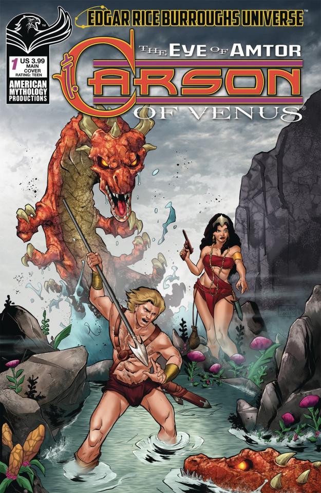 Carson of Venus: The Eye of Amtor #1 (Carratu Cover)