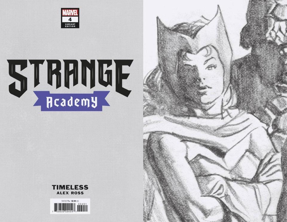 Strange Academy #4 (Scarlet Witch Timeless Virgin Sketch Cover)