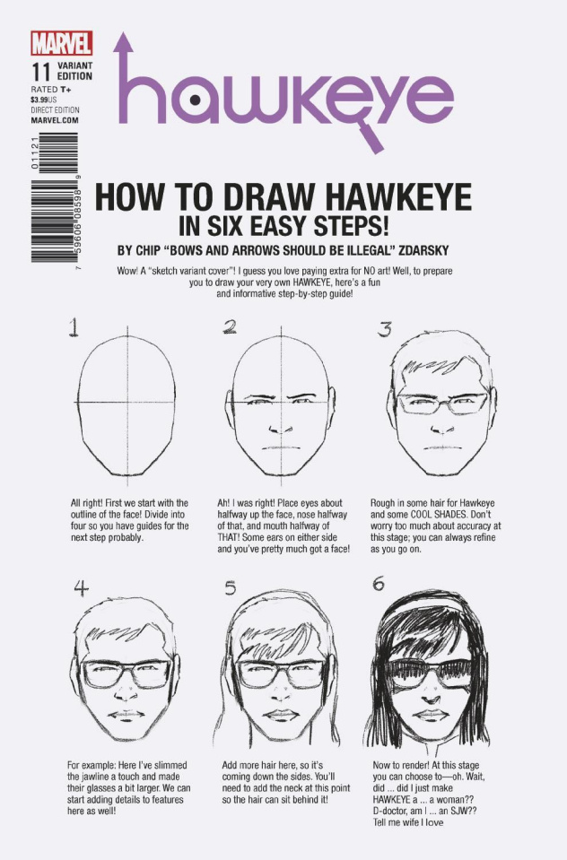Hawkeye #11 (Zdarsky How To Draw Cover)