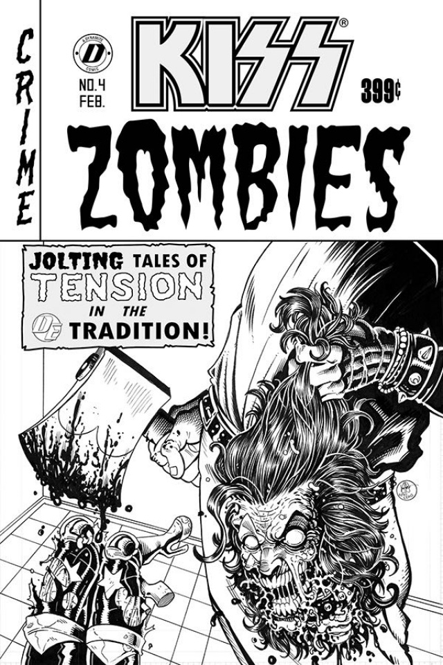 KISS: Zombies #4 (7 Copy Haeser Cover)