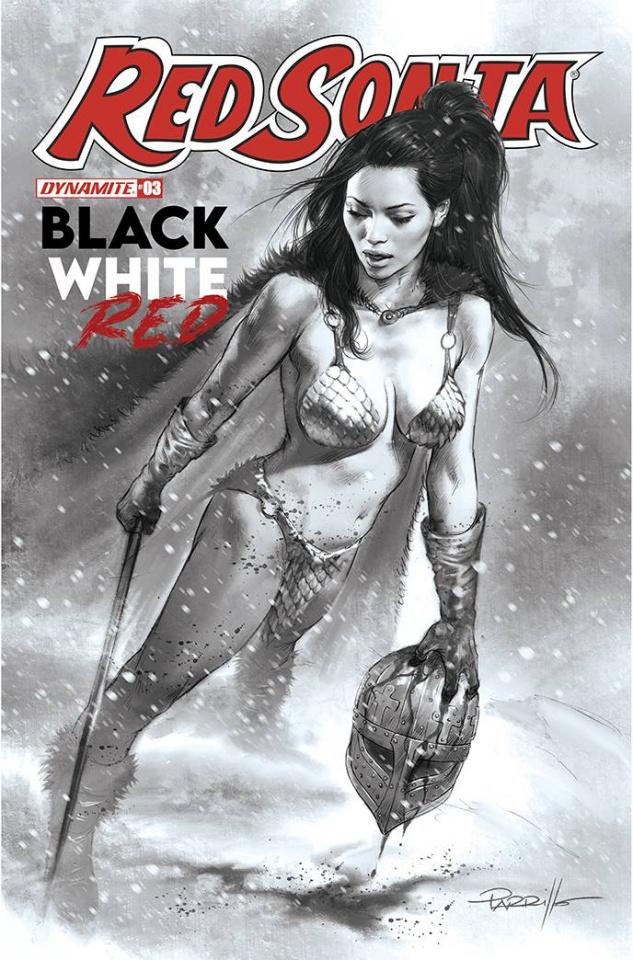 Red Sonja: Black, White, Red #3 (30 Copy Parrillo B&W Cover)
