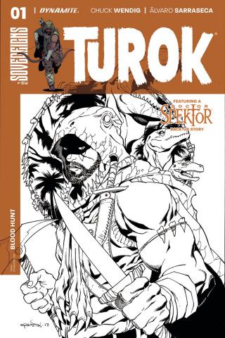 Turok #1 (10 Copy Lopresti B&W Cover)
