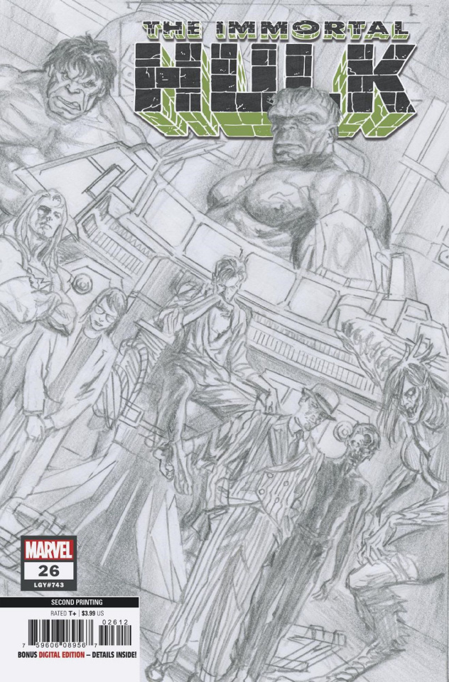 the Immortal Hulk #26 (Alex Ross 2nd Printing)