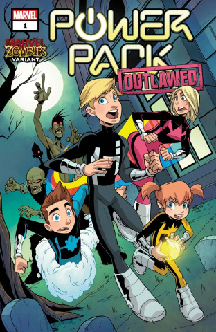 Power Pack #1 (Martin Marvel Zombies Cover)