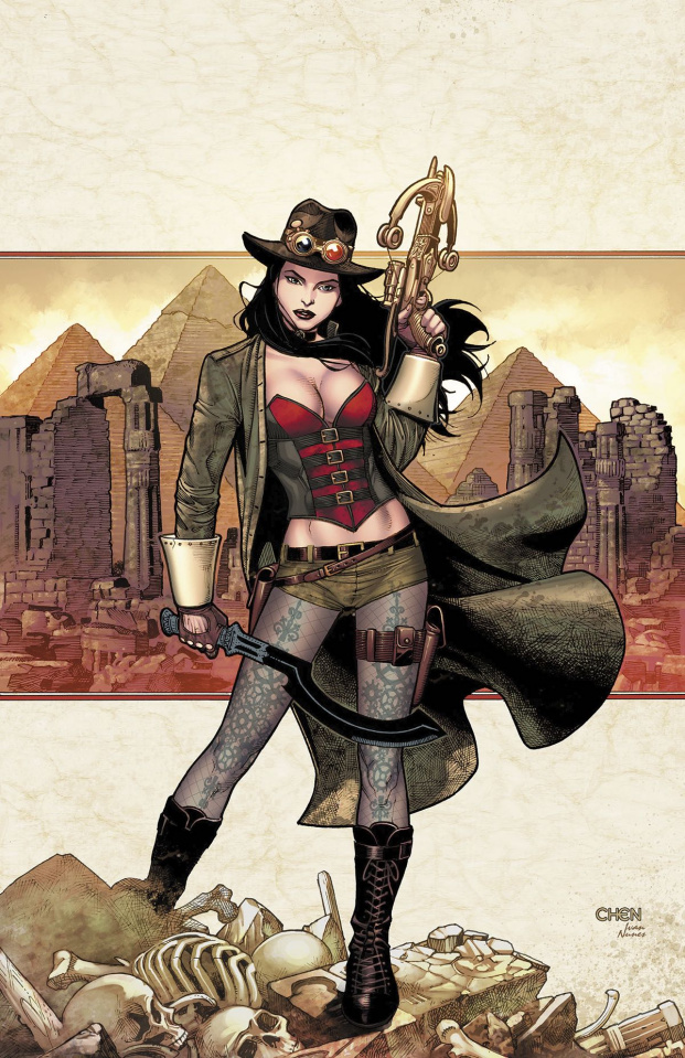 Grimm Fairy Tales: Van Helsing vs. The Mummy of Amun Ra #1 (Chen Cover)