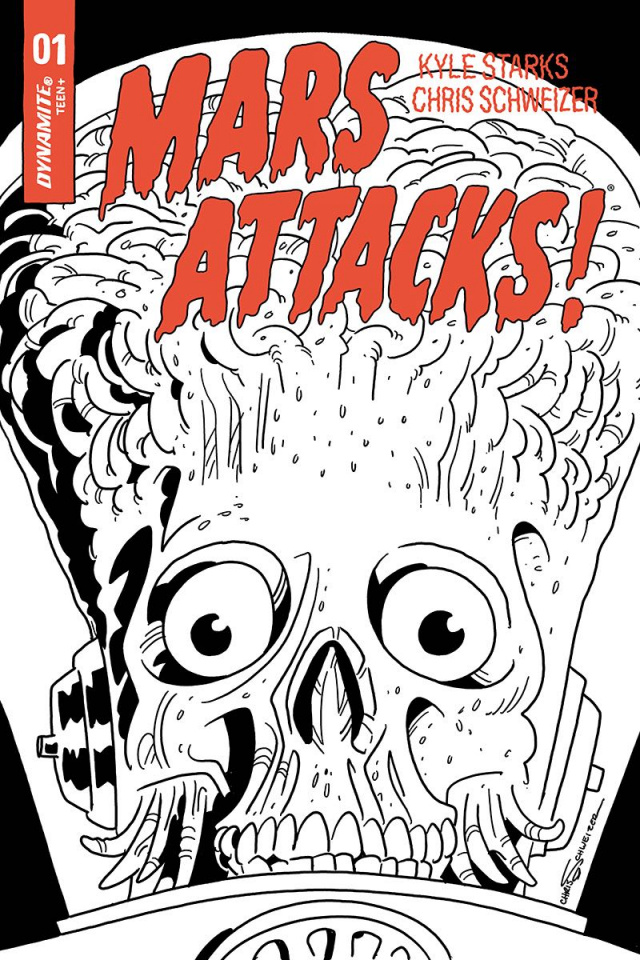 Mars Attacks #1 (50 Copy Schweizer B&W Cover)