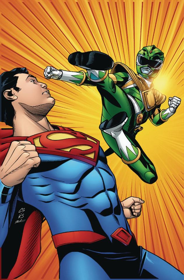 Justice League / Power Rangers #1 (Superman / Green Ranger Cover)