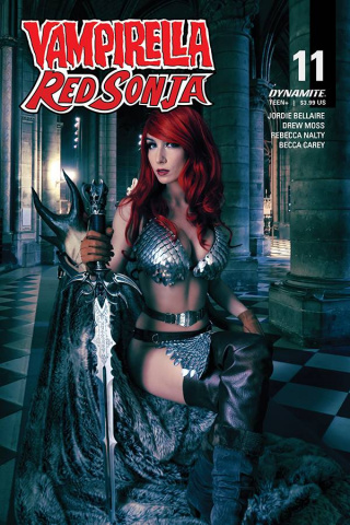 Vampirella / Red Sonja #11 (Zawadzki Cosplay Cover)