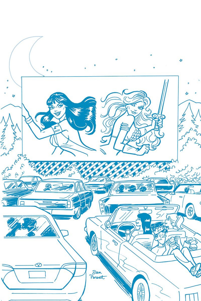 Red Sonja and Vampirella Meet Betty and Veronica #9 (21 Copy Parent Tint Cover)