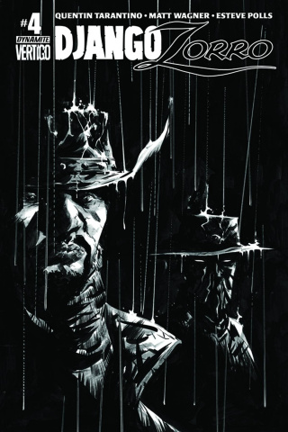 Django / Zorro #4 (25 Copy Lee B&W Cover)