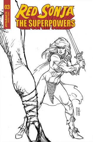 Red Sonja: The Superpowers #3 (10 Copy Linsner B&W Cover)