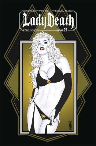 Lady Death #21 (Art Deco Variant Cover)