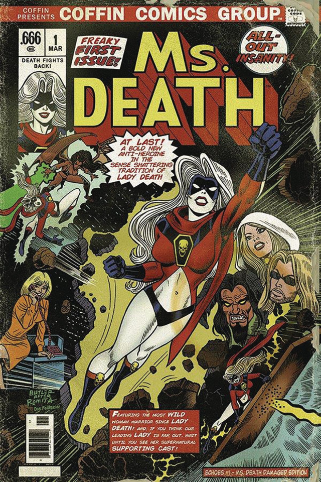 Lady Death: Sworn #1 (Ms. Death Damaged Cover)