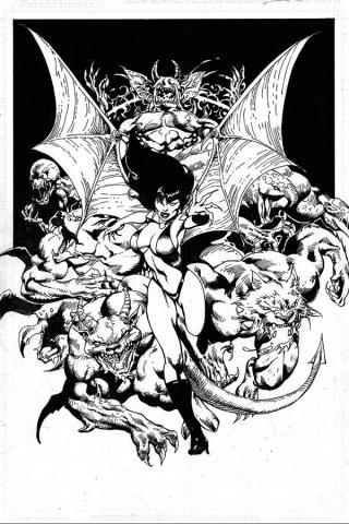 Vengeance of Vampirella #12 (21 Copy Castro B&W Virgin Cover)