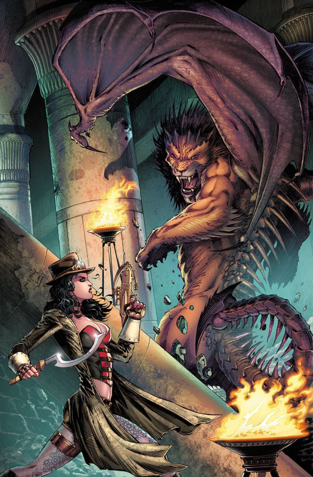 Grimm Fairy Tales: Van Helsing vs. The Mummy of Amun Ra #2 (Metcalf Cover)