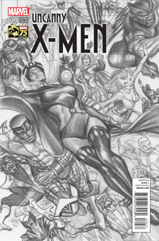 Uncanny X-Men #29 (Ross 75th Anniversary Sketch Cover)