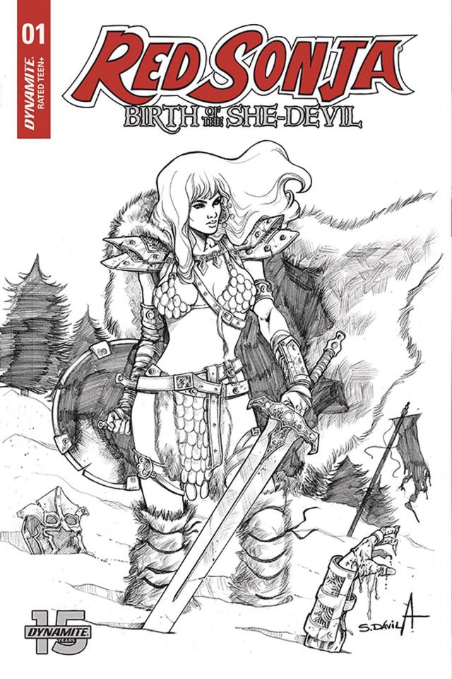 Red Sonja: Birth of the She-Devil #1 (20 Copy Davila B&W Cover)