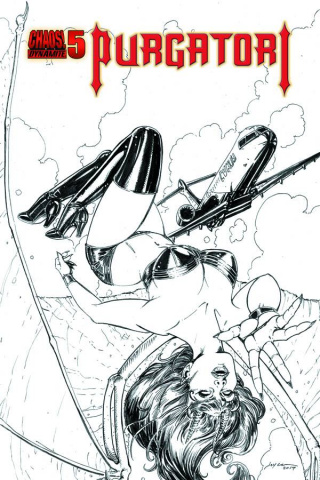 Purgatori #5 (15 Copy Chin B&W Cover)