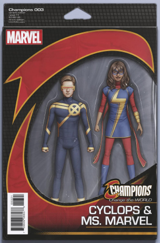 Champions #3 (Christopher Now Action Figure Cover)