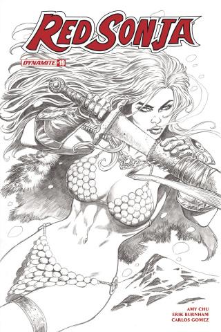 Red Sonja #19 (30 Copy Duursema B&W Cover)