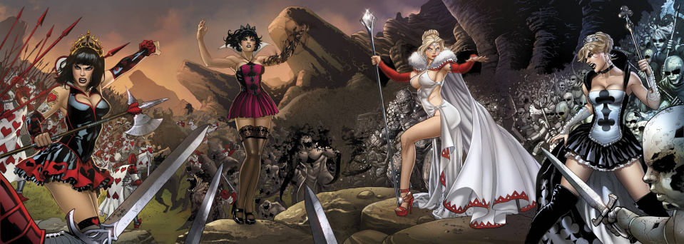 Grimm Fairy Tales: Wonderland - Clash of Queens #5 (Ortiz Cover)