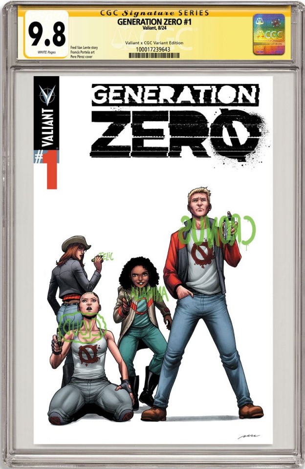 Generation Zero #1 (CGC Replica Perez Cover)