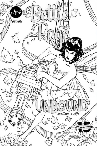 Bettie Page: Unbound #4 (40 Copy Ohta B&W Cover)